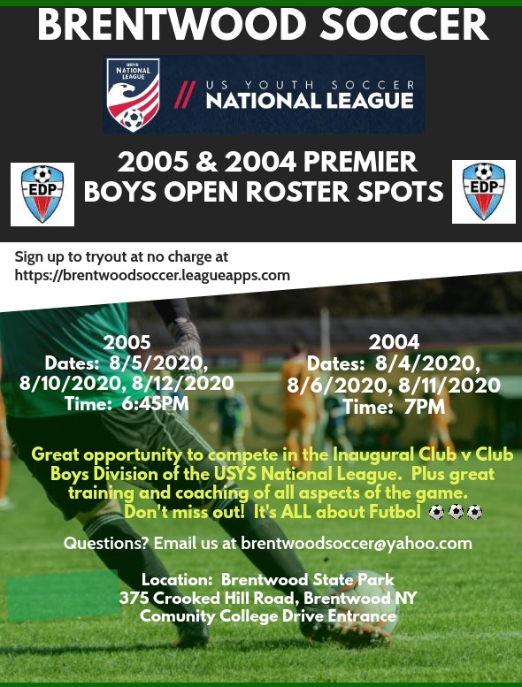 Premier Boys Soccer Tryouts Flyer 4x6 - Made with PosterMyWall